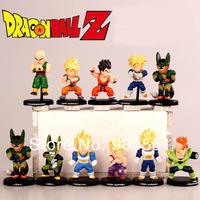 New Anime Dragon Ball Z DBZ Goku 5cm PVC Figure Toy Set of 11 pcs  Free shipping