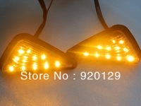 Clear Flush Mount LED Turn Signals Light for Kawasaki Ninja ZX9R ZX6R ZX7R Free Shipping
