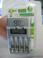 2014 new LCD display battery charger for AA/AAA /NI-MH/NI-CD  super quick charger Apply to worldwide voltage