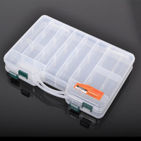 Free Portable compartment double faced lure box