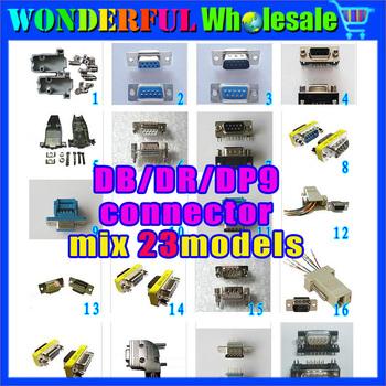 DB9/DR9/DP9 connector mix 23models,total:86pcs/lot