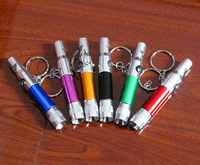 Ingenious Aluminum Alloy flashlight keychain with survival whistle