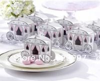 Wedding Favor 100PCS/LOT Free shipping princess carriage wedding box candy box sweet box