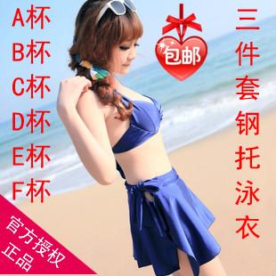 Women's piece set bikini large cup size swimwear belt mantillas cdef cup belt plus size(China (Mainland))