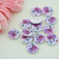 Free Shipping 100pcs  2 Holes Wood Buttons Good Scrapbooking 15mm  buttons  Sewing 1521