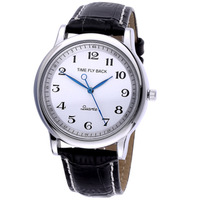 Time personalized counterclockwise watch lovers design vintage strap watch quartz watch lettering