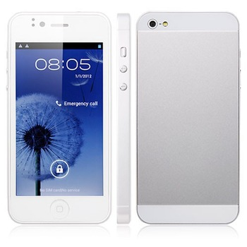 Flying 5i Android Cell Phone 4 inch Capacitance Screen MTK6577 Dual Core 1.0GHz 3G WCDMA Dual SIM with 8.0MP Camera