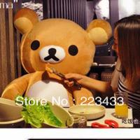"M'lele 140cm/55"" Very Good Birthday Gift!!  Giant Plush Stuffed Rilakkuma  Accept Dropshipping children dinosaur toy"