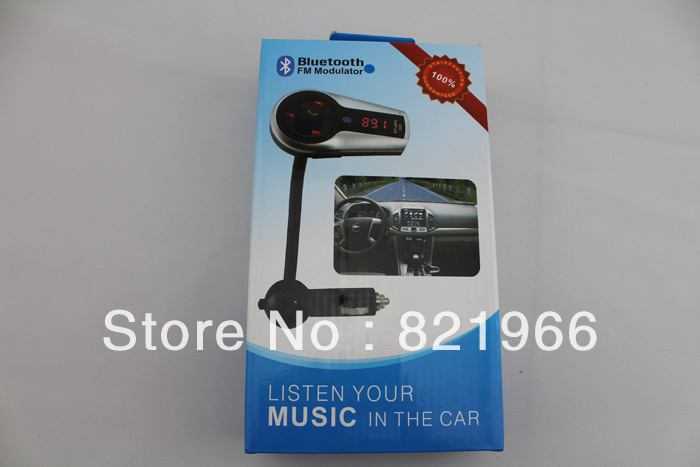 10pcs Bluetooth Car Kit FM Transmitter MP3 Player Steering Wheel USB TF MMC Card Black free shipping(China (Mainland))