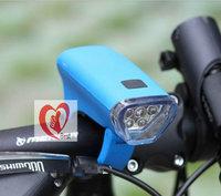 Free shipping 5 LEDs Solar Energy Power + Hand Crank Bicycle Front Light ,2 Modes Bike Led Headlight,