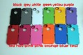 120 pcs/lot ,with retail package and clip ,for iphone 4 4s  silicone+ pc   case ,many color available