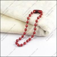 100pcs 10cm multicolour beads card chain tag chain chromophous