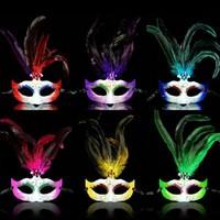 Masquerade Rhinestone Feather Eye Face Mask Masked Ball Fancy Dress Mardis Gras Mask FREESHIPPING