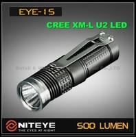 Free Shipping NITEYE EYE15 XM-L U2 LED flashlight 500 lumens magnetron dimming EDC straight torch