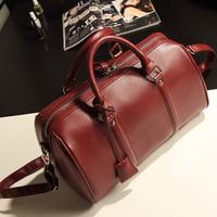 2013 summerwomen's Wine red fashion handbag messenger bag big bags women's shoulder bag Boston bag
