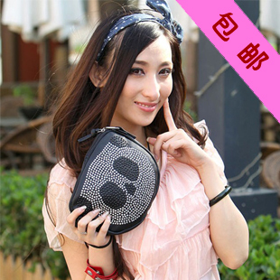 2013 bags rhinestone bag diamond fashion small women's handbag messenger handbags free shipping sale promotion discount(China (Mainland))