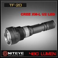 1PC NITEYE TF20 Tactical CREE XM-L XML U2 LED Flashlight 480 lumens 18650 Aluminum Magnetic Waterproof IPX-8 Rechargeable Torch