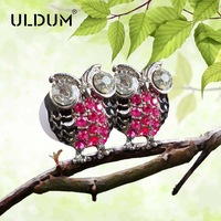 Uldum metal owl personality earphones mobile phone in ear earphones heatshrinked single hole earphones headset one piece