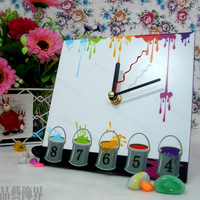Free shipment ,table clock wall clock child table clock 15cm capitales advanced mute clock movement plastic material