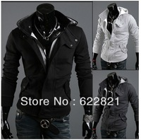 Free shipping 2013 HOT!New coats men outwear Mens Special Hoodie winter Jacket Coat clothes cardigan style Men's  jacket Sweater