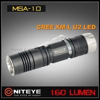 1PC Niteye MSA10 Cree XM-L U2 AA 1.5v SS Bezel Magnetic Control Wateprofo IPX-8 Standard Camping Hiking LED Flashlight Torch