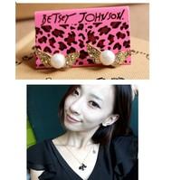 Free shipping  pearl wings earrings, girl cute style earrings hot sale