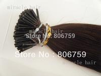 "0.8g/s18"" 1g/s 20""22""24"" Keratin stick tip hair/ I tip hair extension #4 dark brown color 100gram/LOT"