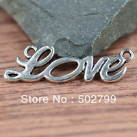Free Shipping 30PCS Tibetan Silver tone Alloy Love Charm Connectors For Jewelry Finding TS10114