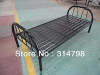 Metal single bed with 9pcs streaked strips, 14kgs weigjt, steel single bed, school bed