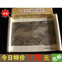 Free Shipping Silk brocade scroll foreign affairs gifts chinese style unique gift scrolls box