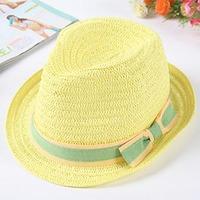 Handmade bow 2013 fedoras jazz hat sunbonnet summer
