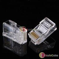 100 Pieces 8P8C RJ45 Modular Plug for Network CAT5 LAN #647