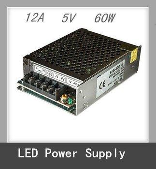 5V 12A 60W Switching Power Supply Unit 120/240VAC LED Strips Pixels CCTV PSU USA
