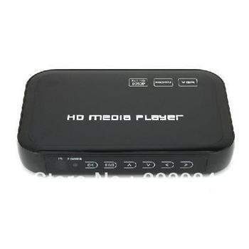 Free shipping Full HD 1080P USB HDD Media Player HDMI VGA MKV H.264