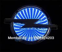 Free shipping 3 d LED car sticker LOGO light red badge light emblems sticker opel series