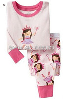 FREE SHIPPING----children pajama sets homewear sleepwear girls cotton long sleeves sleepwear cartoon princess design 1pcs 04426
