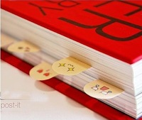 (Minimum order $5)  Cute 200 Pages Ten Fingers Sticker Bookmark Memo Sticky Notes pads HQS-Y34600