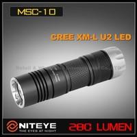 1PC Niteye MSC10 Cree XM-L U2 CR123A SS Bezel Magnetic Control Rechargeable Waterproof IPX-8 LED Flashlight Torch