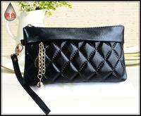 2013 New woman genuine leather zipper wallet fashion ladies wallet purse,card bag,women's clutch bags Free shippingWB18