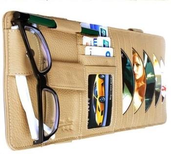 Cattle car cd folder sun-shading board cover car cd bag car cd folder disc storage bag genuine leather