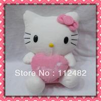 Free shipping hello kitty hearts 30cm plush doll 12pcs/lot Toy wholesale