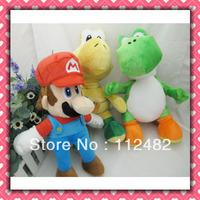 Free shipping Super mario 33cm plush doll mix 12pcs/lot Toy wholesale