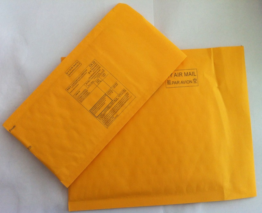 Free fee 100pcs 11*13cm Kraft Bubble Self-adhesive Envelope Mailer Air Bag Bubble Mailers Padded Envelopes Bags(China (Mainland))