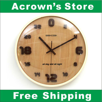 Creative household products---24hours version wood wall clock