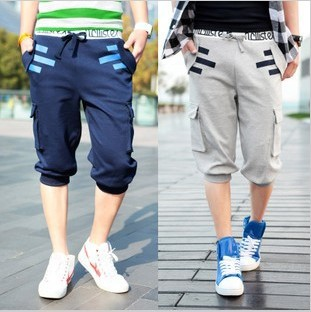 Elastic waist bag fashion sweatpants men short pants compression tights men 2013 korean swimming trunks shorts S298(China (Mainland))
