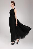 New Women Korean summer bohemian halter sleeveless vest dress chiffon swing dress evening dress