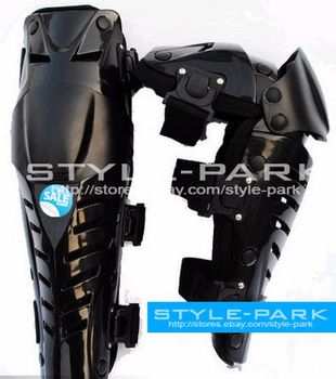Brace Style ATV Biker Motocross Motorcycle Off-road Knee Guards Pad Blacks
