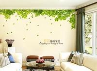 Warm TV backdrop Wall Sticker tree living room bedroom sofa TV Wall sticker decal sticker fresh green leaves