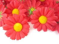 """24X  Gerbera Daisy Heads Artificial Silk Flower  1.75""""  Red"""