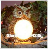 NEW Solar Resin  Owl Garden Yard Decor Lights